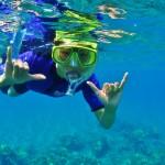 double shaka snorkeler