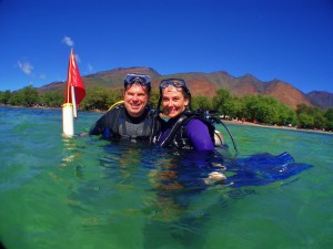 Divers at Olowalu, Maui with Tiny Bubbles Scuba