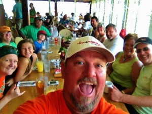 Da group at Castaway Cafe with Tiny Bubbles Scuba