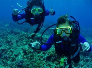 """Tiny Divers with Tiny Bubbles Scuba ... """"Shaka"""""""