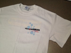 Tiny Bubbles Scuba T-Shirt (front)