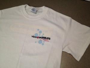 Tiny Bubbles Scuba T-Shirt (front)