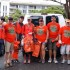 Group of volunteers ready to hit Highway 30 with Tiny Bubbles Scuba