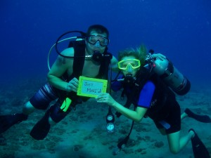 Divers on their 1st Dive as a Married Couple