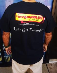 Tiny Bubbles T-shirt BLACK back